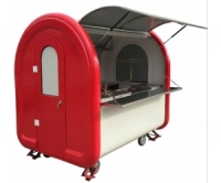Electric Motor Mobile Food Cart with Cab