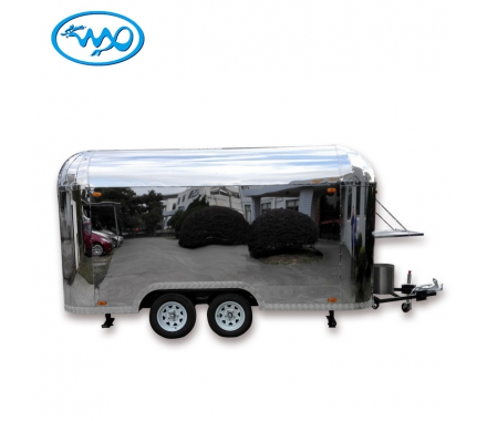 China professional supplier stainless steel blink Airstream customized mobile food trailer / truck / cart on sale