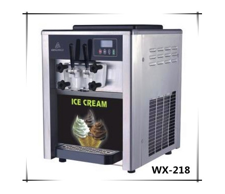 China Commercial Counter Top Digital Two Flavors Soft Ice Cream Machine For Sale factory