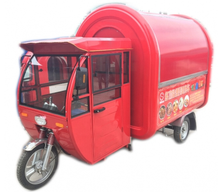 China Electric Motor Mobile Food Cart with Cab factory