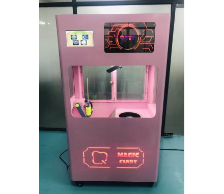 Floss Flower Automatic Vending Automatic cotton candy making machine