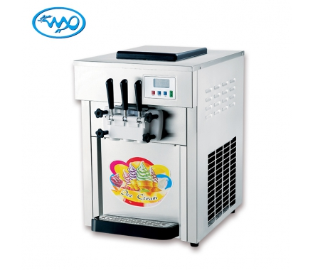 China Hot sale wholesale factory price 2+1mixed flavors soft ice cream machine for sale factory