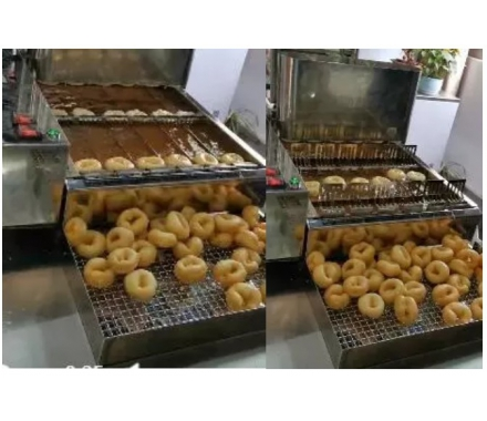 Automatic 6 row mini donut machine
