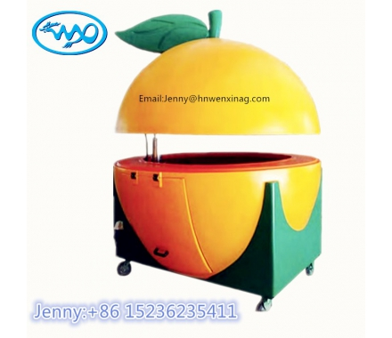 hot sell fruit shape orange watermelon lemon ball mobile hand puch food kiosk hot dog cart food truck